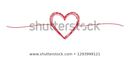vector red valentine heart stock photo © x-etra