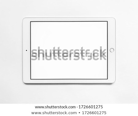 tablet pc with blank black screen stock photo © dolgachov