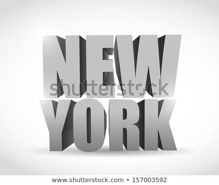 New York Apple Illustration Design Over White Background Photo stock © alexmillos