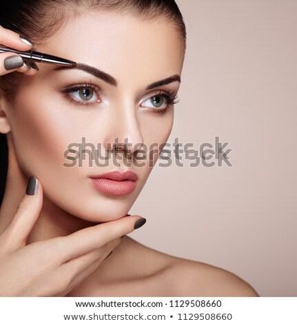Brilhante cara da mulher make-up belo mulher jovem Foto stock © zastavkin
