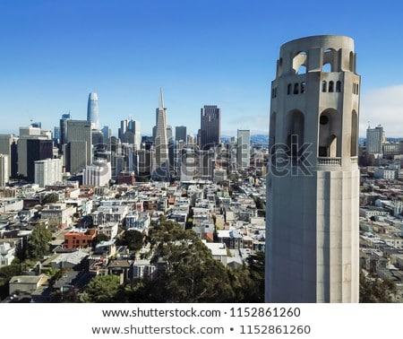 Stock photo: Coit Tower Hillside Neighborhood San Francisco California