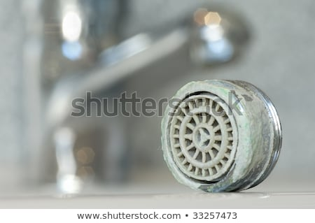 Calcified sieve of a faucet Stock photo © pixpack