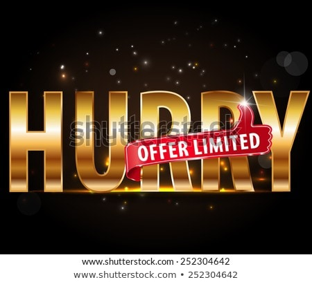 Limited Time Offer golden Vector Icon Design Stock photo © rizwanali3d