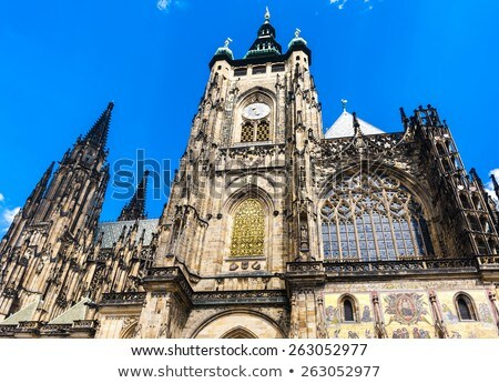 cathedral of st vitus wenceslas and vojtech in prague castle stock photo © phbcz