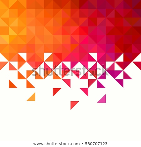 Retro pattern of geometric shapes. Colorful mosaic banner. Stock photo © fresh_5265954