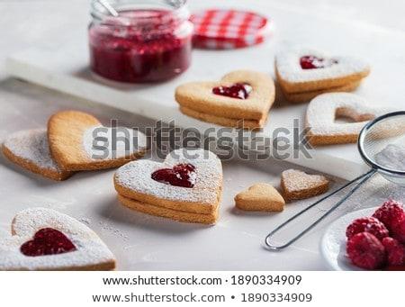 cuore · cookies · bianco · fragola - foto d'archivio © digifoodstock