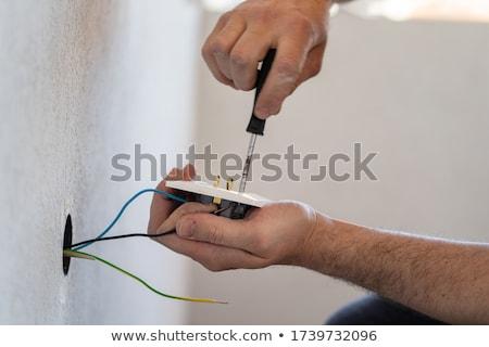Eletricista poder soquete branco Foto stock © Saphira