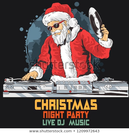 Santa claus playing a dj Stock photo © wavebreak_media