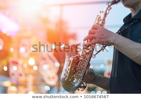 muziekinstrumenten · fase · gitaar · trommel · ingesteld · saxofoon - stockfoto © fisher