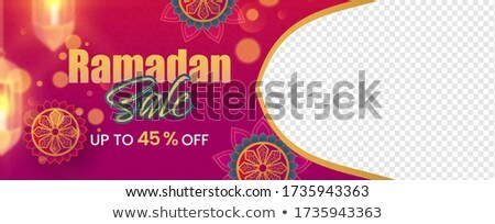 stylish eid festival banners with text space Stock photo © SArts