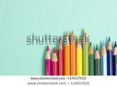 cor · lápis · branco · papel · madeira · criança - foto stock © colematt