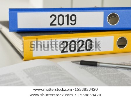 Folders with the label 2019 and 2020 Stock photo © Zerbor