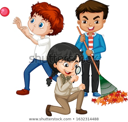 Three kids doing different things Stock photo © bluering