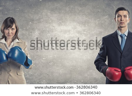 Businessman And Businesswoman Fighting Stock photo © AndreyPopov