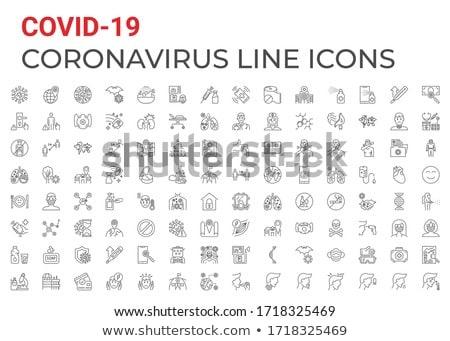 Virus Transmission related vector thin line icon. Stock photo © smoki