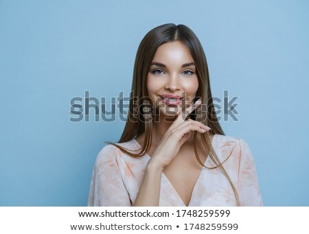 Studio portret prachtig brunette dame kin Stockfoto © vkstudio