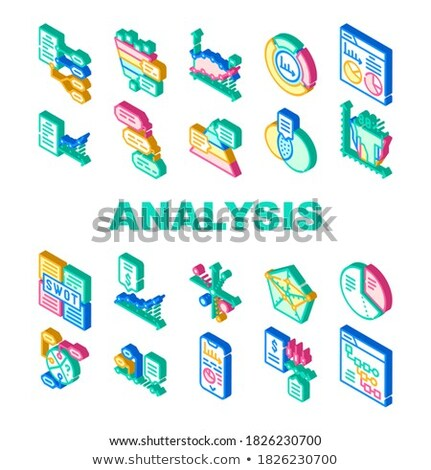 Swot Analysis Strategy Isometric Icons Set Vector Stock photo © pikepicture