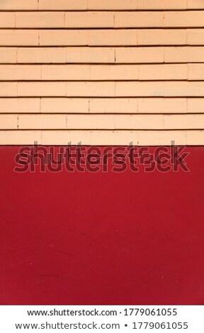 Piros homlokzat téglák részlet épület absztrakt Stock fotó © boggy