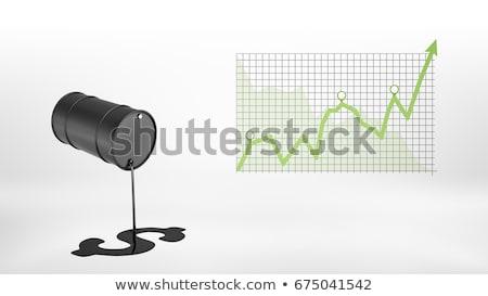 Czarny oleju baryłkę zielone arrow 3D Zdjęcia stock © djmilic