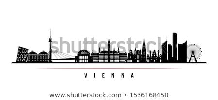 silhouette of Vienna Stock photo © perysty