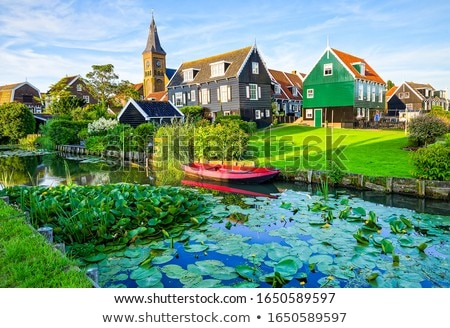 River and village Stock photo © speedfighter