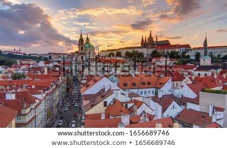 Prag · binalar · eski · Çek · Cumhuriyeti · Retro - stok fotoğraf © ondrej83
