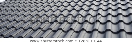 wood tiled roof stock photo © jayfish