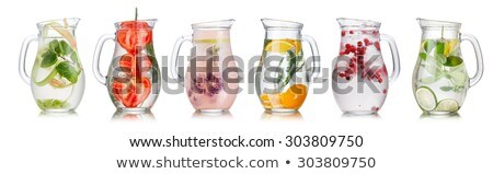 cranberry lemon iced detox water stock photo © maxsol7