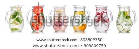 Cranberry lemon iced detox water Stock photo © maxsol7