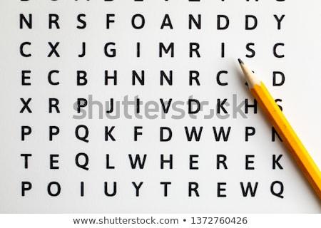 パズル 言葉 訓練 パズルのピース ビジネス オフィス ストックフォト © fuzzbones0