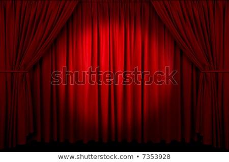 赤 カーテン スポットライト 背景 映画 ストックフォト © zurijeta