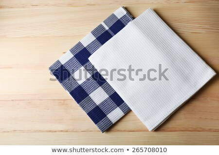 blue and white dish towel Stock photo © Digifoodstock