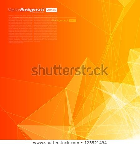 Abstrakten Orange Geometrischen Technologie Vektor