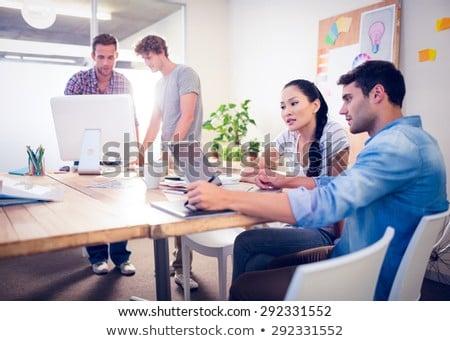 Creativo business colleghi ufficio uomini d'affari cerchio Foto d'archivio © wavebreak_media