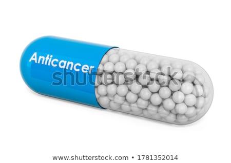 nyitva · kapszula · fehér · izolált · 3d · illusztráció · orvosi - stock fotó © user_11870380