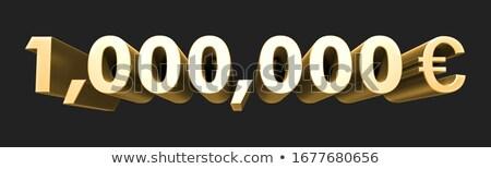 euro · símbolo · dourado · cartas · 3D - foto stock © Wetzkaz