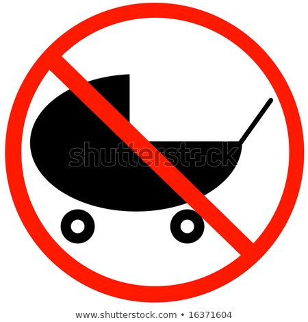 Don't enter with strollers Stock photo © benkrut