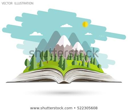 изолированный открытой книгой природы воды дизайна лист Сток-фото © colematt