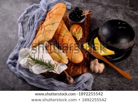 ev · yapımı · otlar · taze · pasta · sarımsak - stok fotoğraf © Peteer