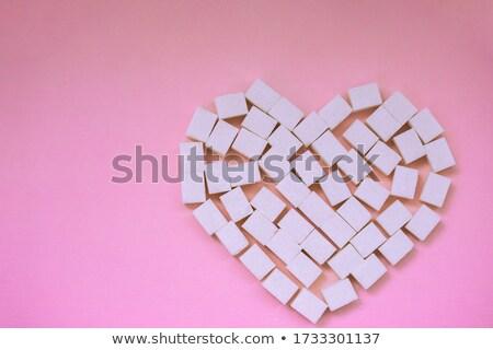 Bowl of white lump sugar Stock photo © Alex9500