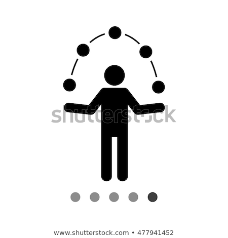Person juggle with application icons Stock photo © ra2studio