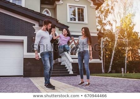 familie · huis · clipart · afbeelding · home · leven - stockfoto © colematt