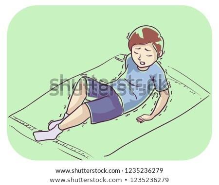 Kid garçon symptôme stand illustration up Photo stock © lenm