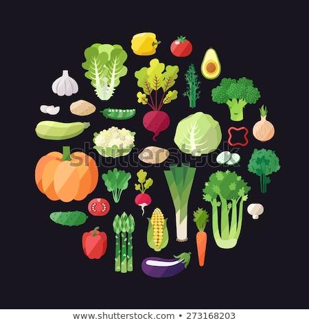 gezonde · voeding · plantaardige · pompoen · vector · teken · icon - stockfoto © robuart