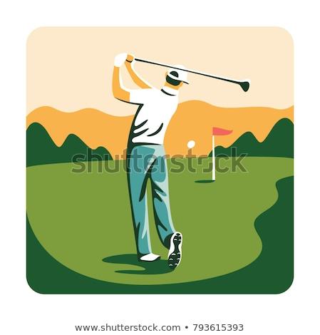 улыбаясь гольфист гольф иллюстрация человека хорошие Сток-фото © tiKkraf69