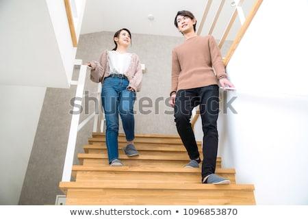 Alulról fotózva kilátás belső modern lépcsőház otthon Stock fotó © wavebreak_media