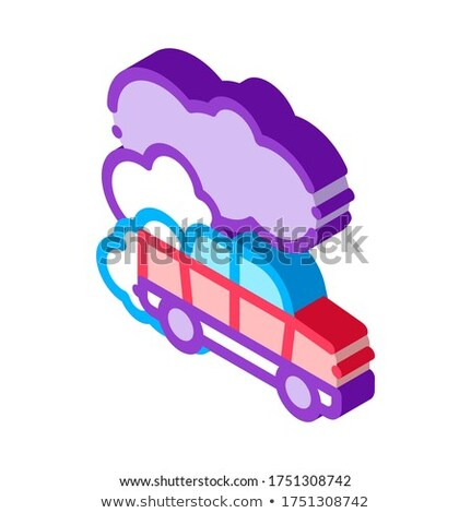 Car Co2 Carbonic Oxide Air isometric icon vector illustration Stock photo © pikepicture