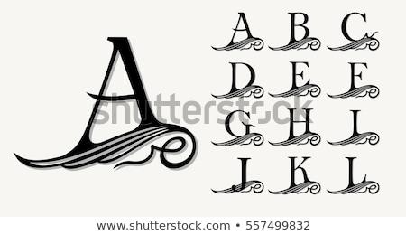 вектора набор роскошь Логотипы декоративный Сток-фото © blue-pen