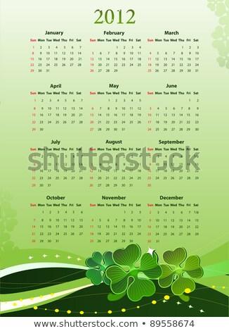 Vector Illustration Of 2012 Calendar For St Patricks Day Photo stock © Elisanth