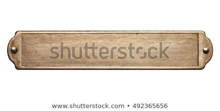 Rusty grunge metal plate Stock photo © ShawnHempel
